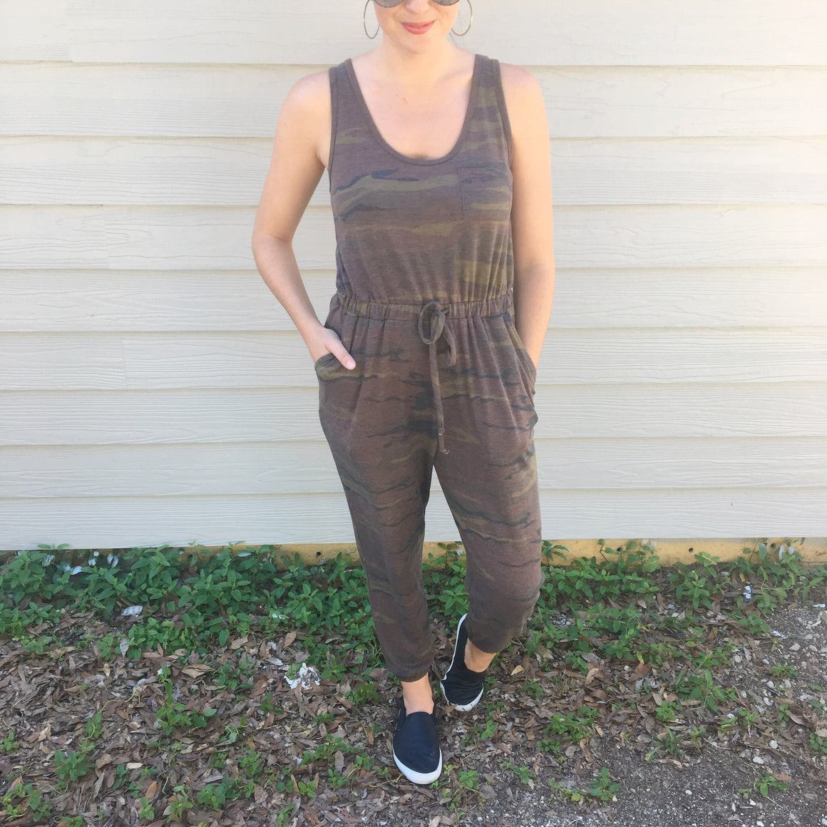 The Cara Camo Jumpsuit