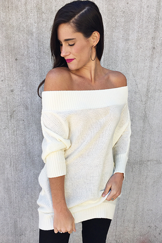 The Madison Sweater [IVORY] - FINAL SALE