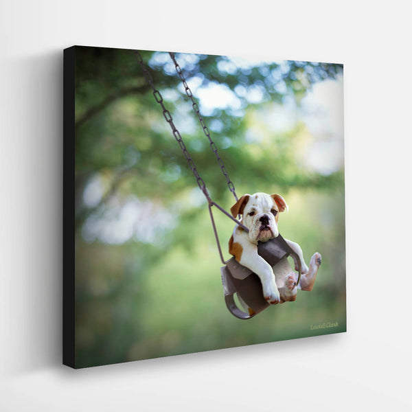"""BUSTER"" Bulldog Puppy Art"