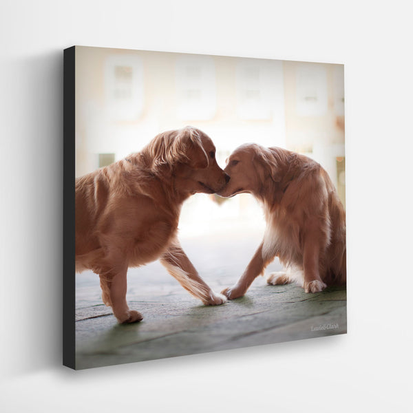 """HEART & SOUL""  Golden Retriever Art"