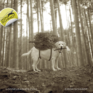 """""""LABERJACK"""" CANVAS Yellow Labrador Retrieve Wall Decor for Home, Cottage, Cabin, Lodge - Holiday and Christmas Print for Dog Lovers"""