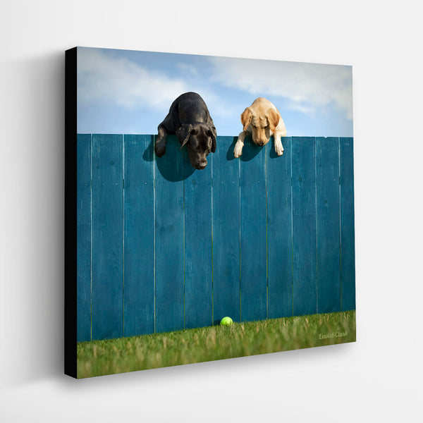 """LEWIE & CLARK - Out Of The Park""  Labrador Retriever Art"