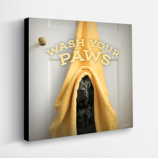 """Wash Your Paws"" Canvas"