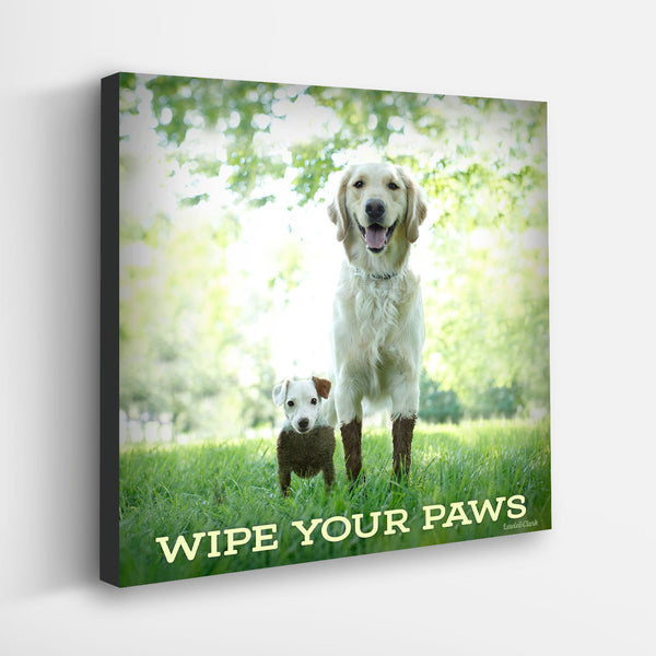 """Wipe Your Paws"" Canvas"