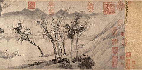 Tang Yin (d'après)- Farewell at the bridge of the hanging rainbow