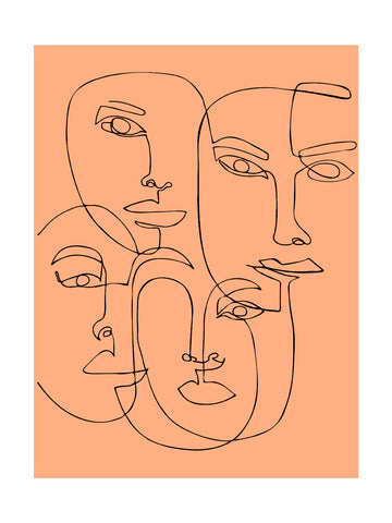 Visages - Dessin au trait
