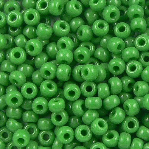 Green Opaque Seed Beads (Size 6)