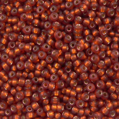 Half Matte Topaz Silver Lined Seed Beads (Size 11)