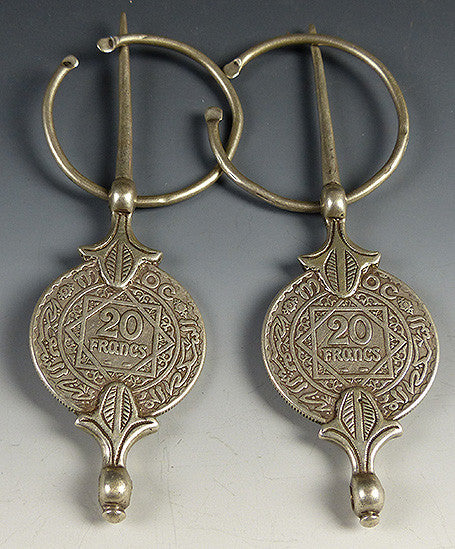 Pair of 20 Franc Silver Coin Fibula