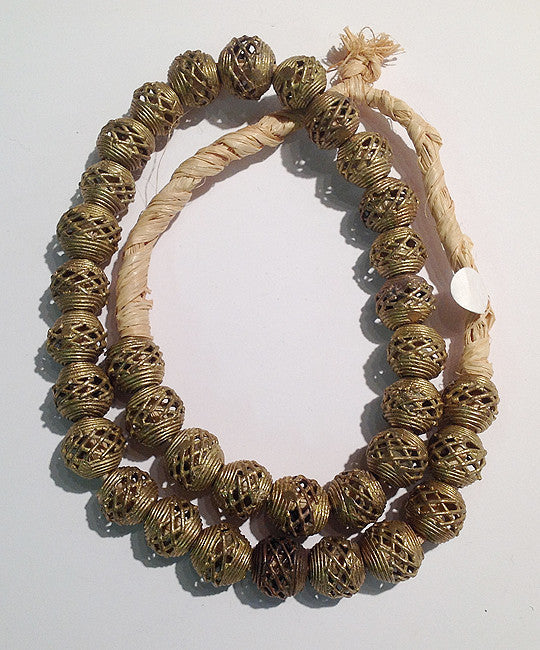 "Nigerian ""Lost Wax"" Brass Beads"