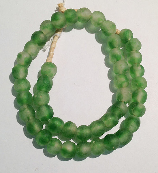 African Sea Glass Beads (2-Tone)