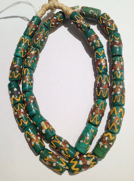 Fancy Green Venetian Bead Strand