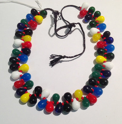 Mali Wedding Beads (Small - Multicolored w/red seed beads)