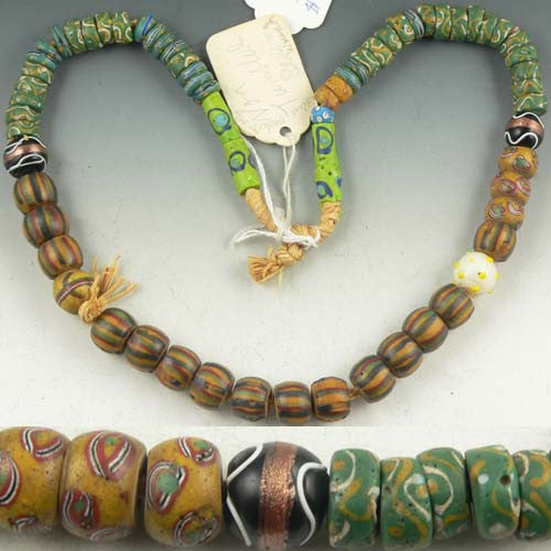 Mixed Strand of African Trade Beads