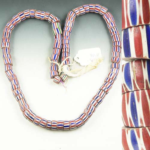 Red, White and Blue Trade Beads