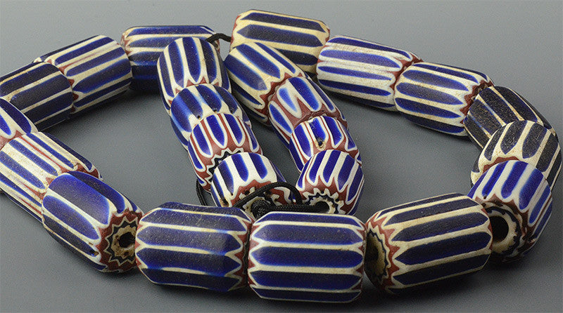 Chevron Mix of Large 6 Layer Beads (Price is per Bead)