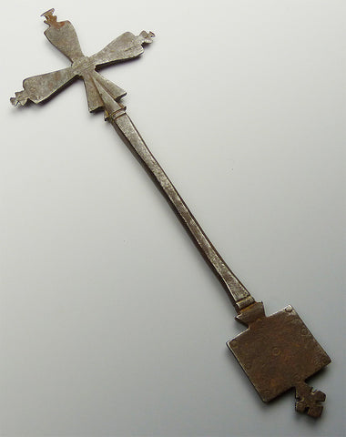 Rare Antique Ethiopian Steel Cross #4