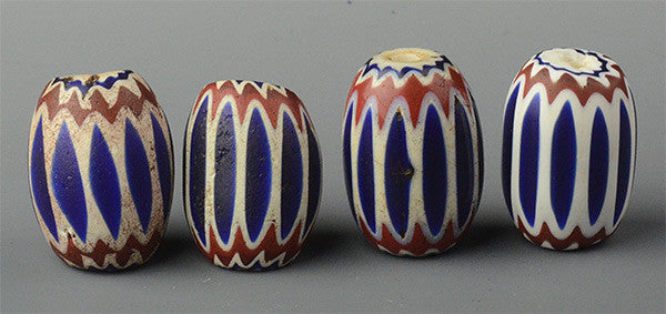 Six Layer Egg Chevrons (Sold by the Bead)