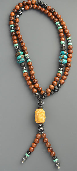 Handmade Mala Necklace, Made by Emily Silverman