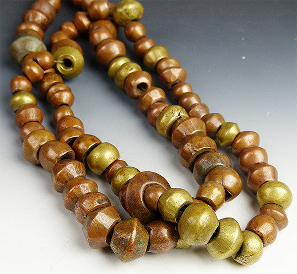 Old Brass Beads from Ethiopia
