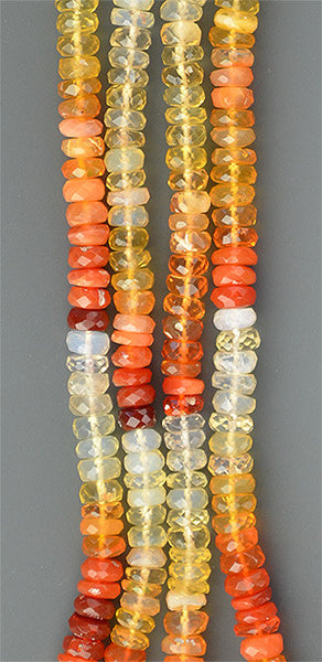 Mexican Fire Opal Faceted Roundels