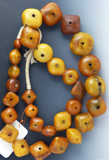 African Pillow Amber Beads from Mail #2