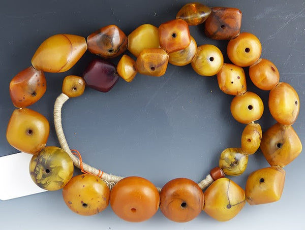 African Pillow Amber Beads from Mail #1