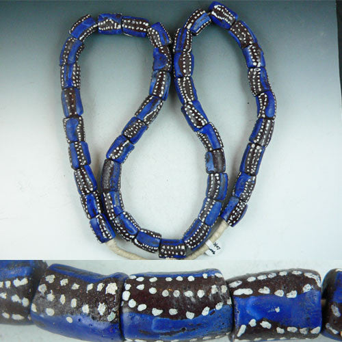Sand Cast Strand - Blue & Brown with dots