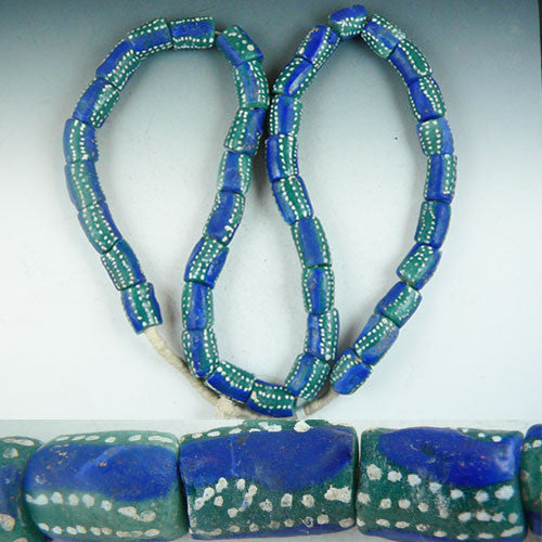 Sand Cast Strand - Blue & Green with dots