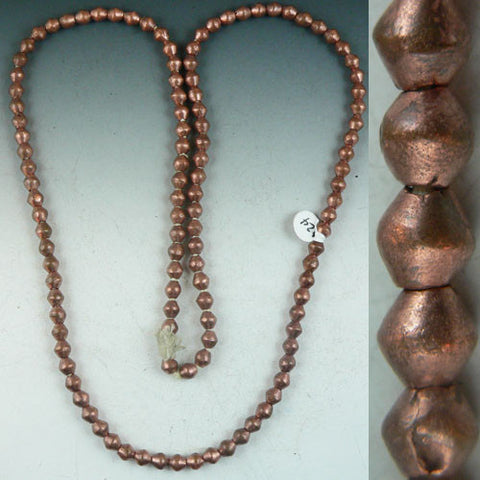 Copper Beads - rounded Rhombus