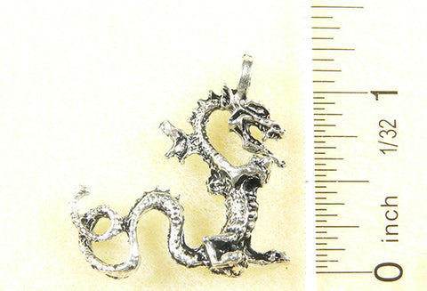 Dragon with L - Tail Charm