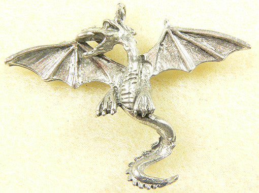 Dragon with Wide Wings Charm