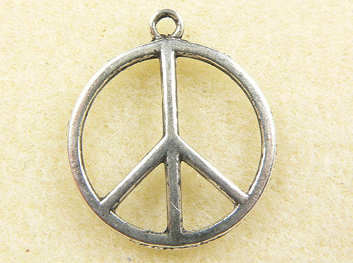Large Peace Sign Charm