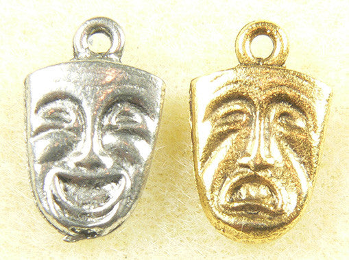 Comedy & Tragedy Face Charm