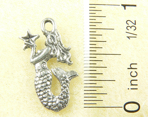 Mermaid with a star Charm