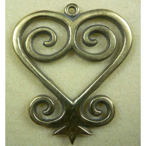 "Large Sankofa Symbol ""give and receive"" Pendant"