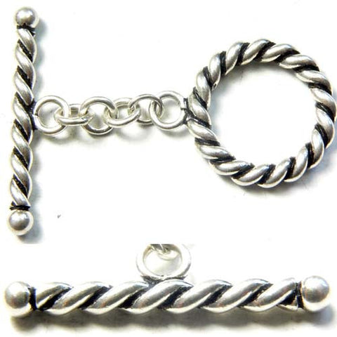 Sterling Silver Clasp - Toggle