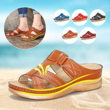 Load image into Gallery viewer, Women's Summer Open Toe Comfy Sandals Super Soft Premium Orthopedic Low Heels Walking Sandals Drop Shipping Toe Corrector Cusion