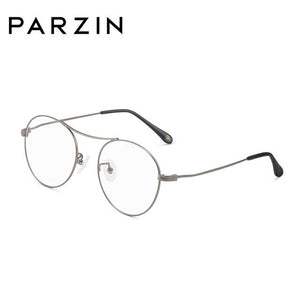 PARZIN New Fashion Hot Summer High Quality Classics Students Eyeglasses Frame  Retro Round Metal Frame Reading Glasses 15709