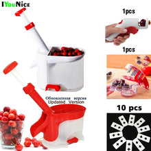 Load image into Gallery viewer, Quality Cherry Pitter Seed Remover Machine Fruit Nuclear Corer With Container Kitchen Accessories Gadgets Tool for Kitchen