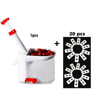 Quality Cherry Pitter Seed Remover Machine Fruit Nuclear Corer With Container Kitchen Accessories Gadgets Tool for Kitchen