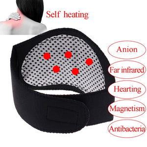 Self Heating Neck Massager Tourmaline Magnetic Therapy Neck Massager Vertebra Protection Spontaneous Heating Belt Body Massager