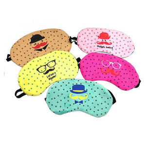 Cute Soft Eye Mask Travel Home Eye Sleeping Rest Sleep Mask Cover Shade Blinder Blindfold Sleeping Eye Mask