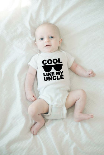 Cool Like My Uncle Summer Funny Infant Bodysuit Newborn Baby Boys Girls Cotton Jumpsuit Fashion Clothes Cute Print Playsuit