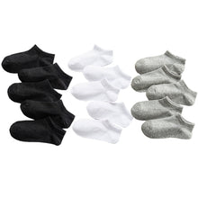 Load image into Gallery viewer, 5 Pairs Baby Socks Boys Girls Black White Gray Socks Cotton Soft Newborn Babies Loose Comfortable Sock Kids School Sport Clothes
