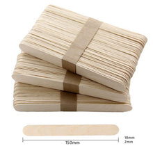 Load image into Gallery viewer, 50Pcs/Lot Colored Wooden Popsicle Sticks Natural Wood Ice Cream Sticks Kids DIY Hand Crafts Art Ice Cream Lolly Cake Accessories