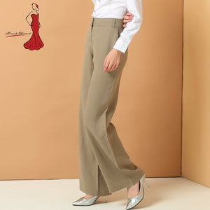 Linen pants women's modis Flare Spring Summer OL Dress Pants Office Trousers Women Harem Formal Casual Lady PH-1602