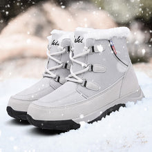 Load image into Gallery viewer, 2019 Women Snow boots Waterproof Non-slip Parent-Child Winter Boots Thick Fur Platform Waterproof and Warm Shoes Plus Size 35-42