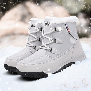 2019 Women Snow boots Waterproof Non-slip Parent-Child Winter Boots Thick Fur Platform Waterproof and Warm Shoes Plus Size 35-42