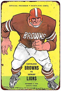 New Tin Sign Carlings Beer Cleveland Browns Vintage Aluminum Metal Sign 8x12 InchesMetal Painting Tin Sign Wall
